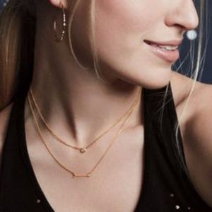 stella & dot ~ the wishing necklace ~ gold